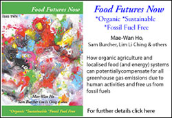 Food Futures Now , *Organic *Sustainable *Fossil Fuel Free, How organic agriculture and localised food, and energy systems can potentially compensate for all greenhouse gas emissions due to human activities and free us from fossil fuels